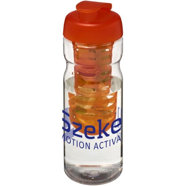 H2O Base® 650 ml flip lid sport bottle & infuser - Transparent / Orange