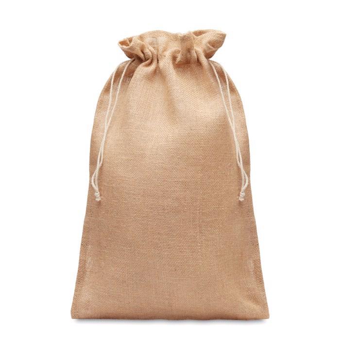 Velika darilna vrečka iz jute velikosti 30 x 47 cm Jute Large