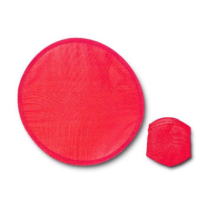 Nylonowe, składane frisbee Atrapa - czerwony