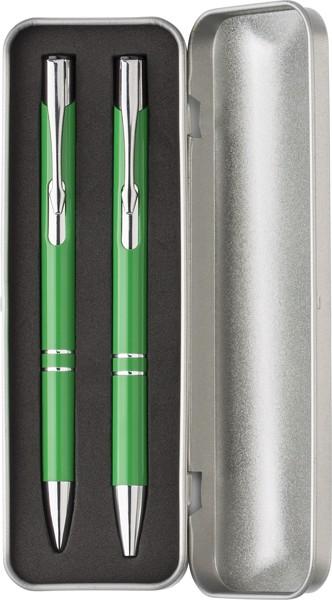 Aluminium writing set - Light Green