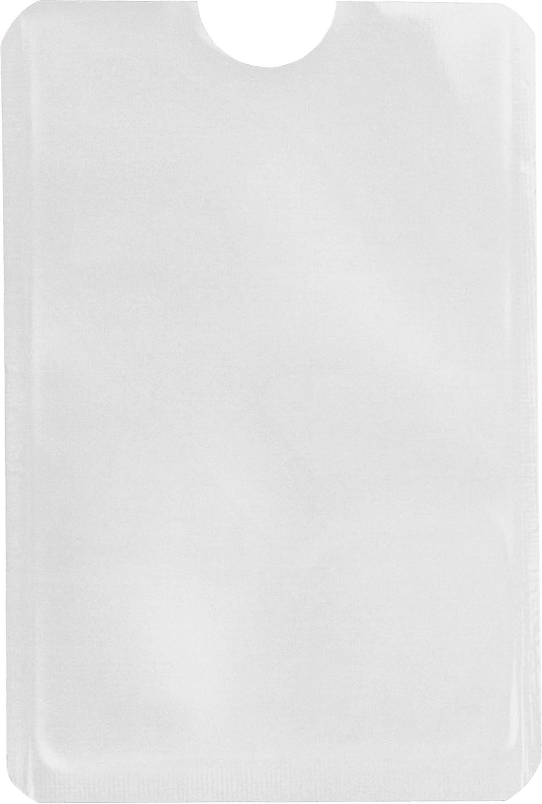 Aluminium card holder - White