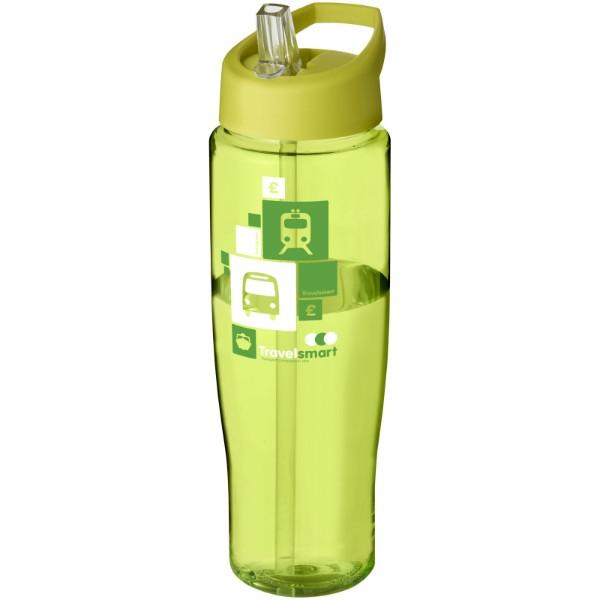 H2O Tempo® 700 ml spout lid sport bottle - Transparent lime / Lime
