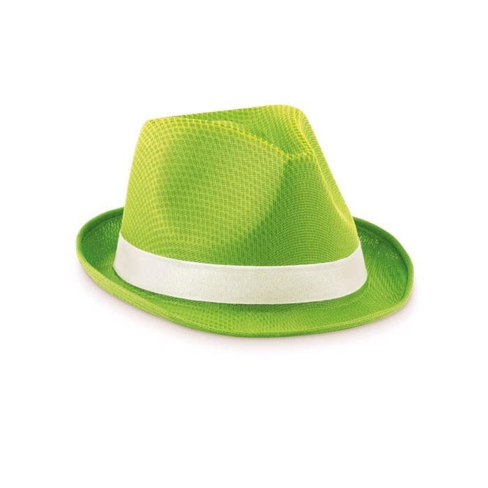 Coloured polyester hat Woogie - Lime