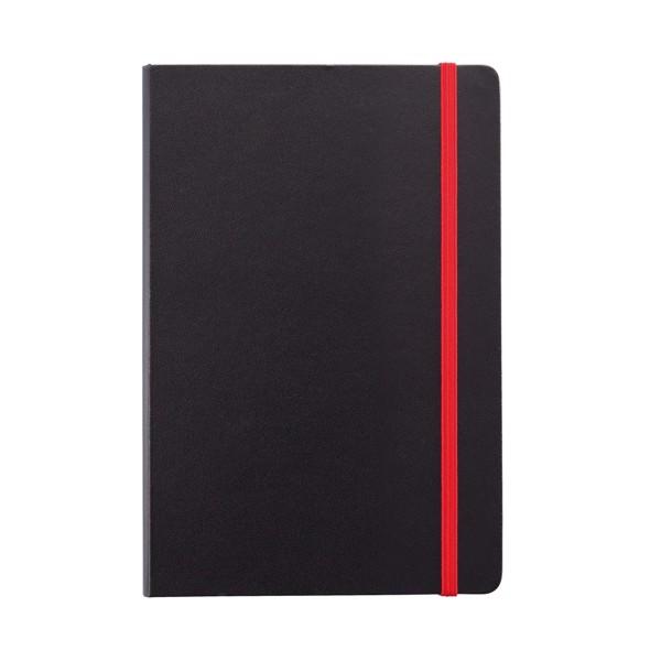 Poznámkový blok A5 sbarevnými okraji - Červená / Černá