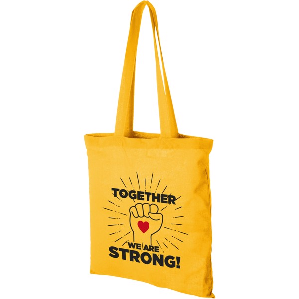 Carolina 100 g/m² cotton tote bag - Yellow