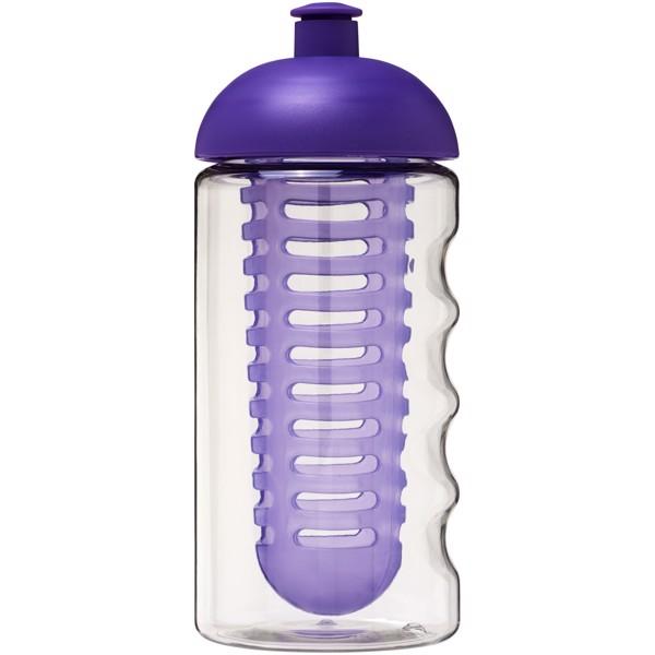 H2O Bop® 500 ml dome lid sport bottle & infuser - Transparent / Purple