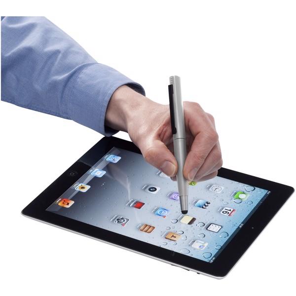 Kuličkové pero a stylus Naju s přenosným diskem 4 GB - Stříbrný / 4GB