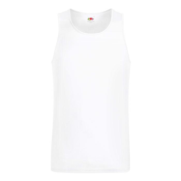 Herren T-Shirt Sport Performance Vest 61-416-0 - White / XL