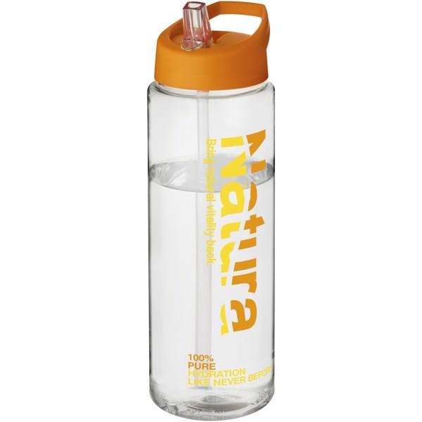 H2O Vibe 850 ml sportovní lahev s víčkem s hubičkou - Transparent / Orange