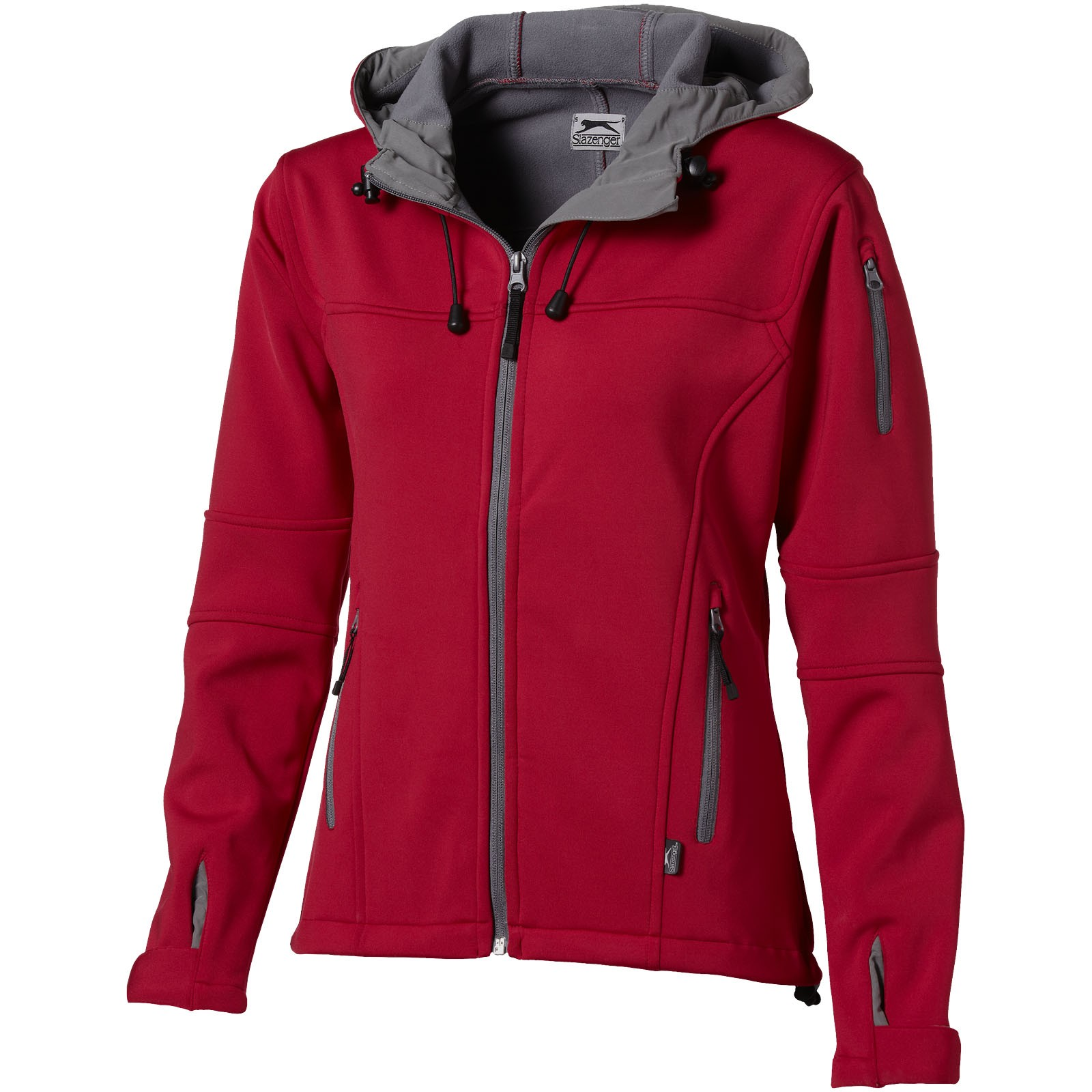 Match ladies softshell jacket - Red / S