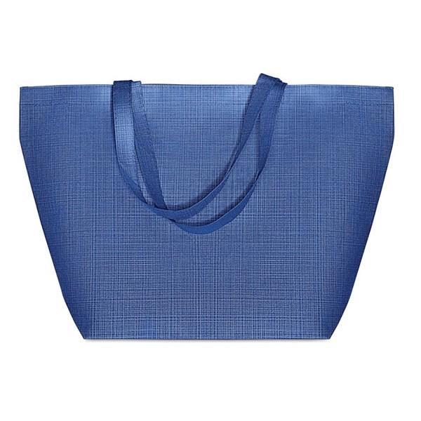 Bolsa tela nonwoven jaspeada Duo Bag - azul royal