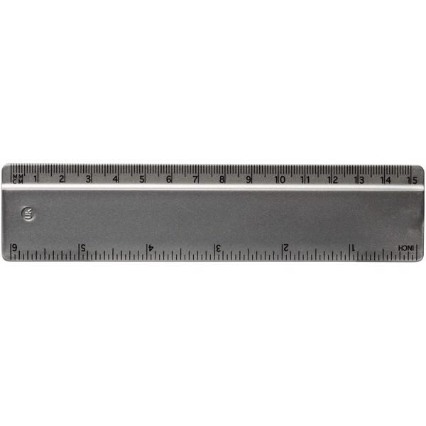 Renzo 15 cm plastic ruler - Silver