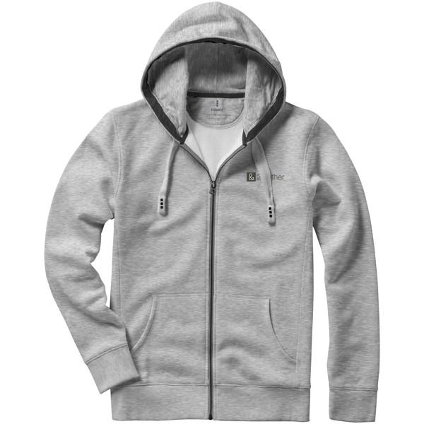 Arora hooded full zip sweater - Grey Melange / M