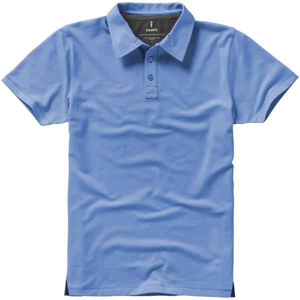 Markham short sleeve men's stretch polo - Light Blue / XL