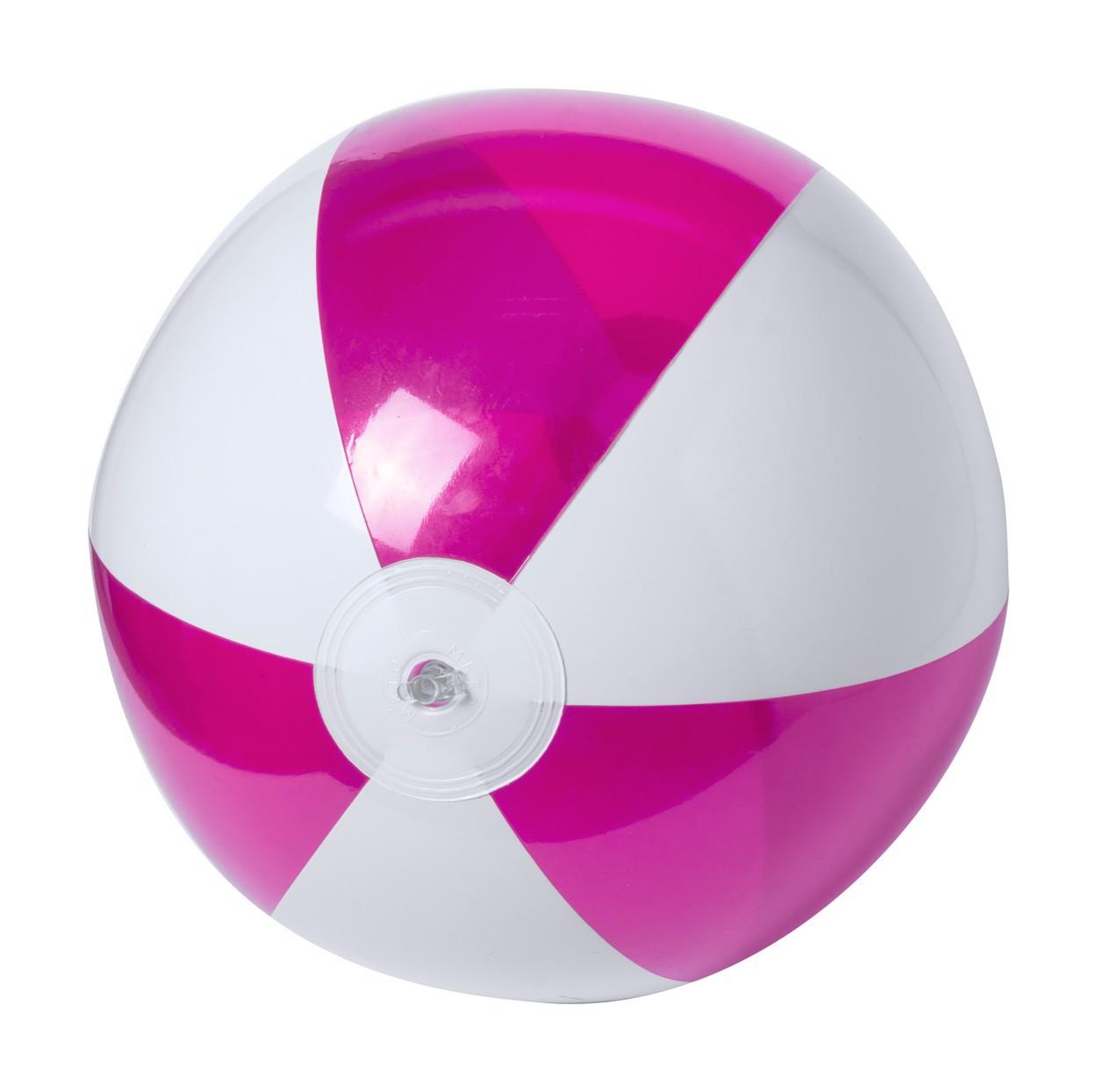 Plážový Míč (Ø28 Cm) Zeusty - Růžová / Bílá