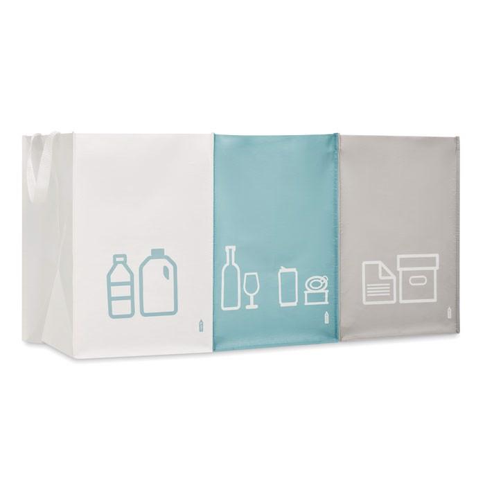 Set de 3 bolsas reciclaje RPET Three Bin