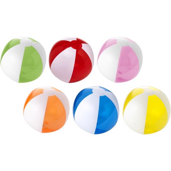 Bondi pevný průhledný plážový míč - Červená s efektem námrazy / Bílá