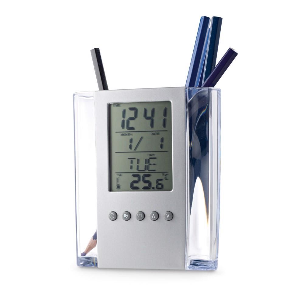 EDEM. Θήκη για στυλό με ψηφιακό ρολόι