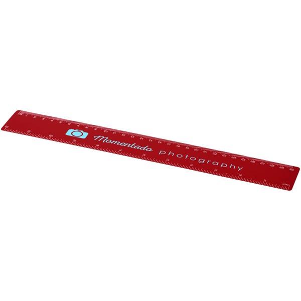 Rothko 30 cm plastic ruler - Red