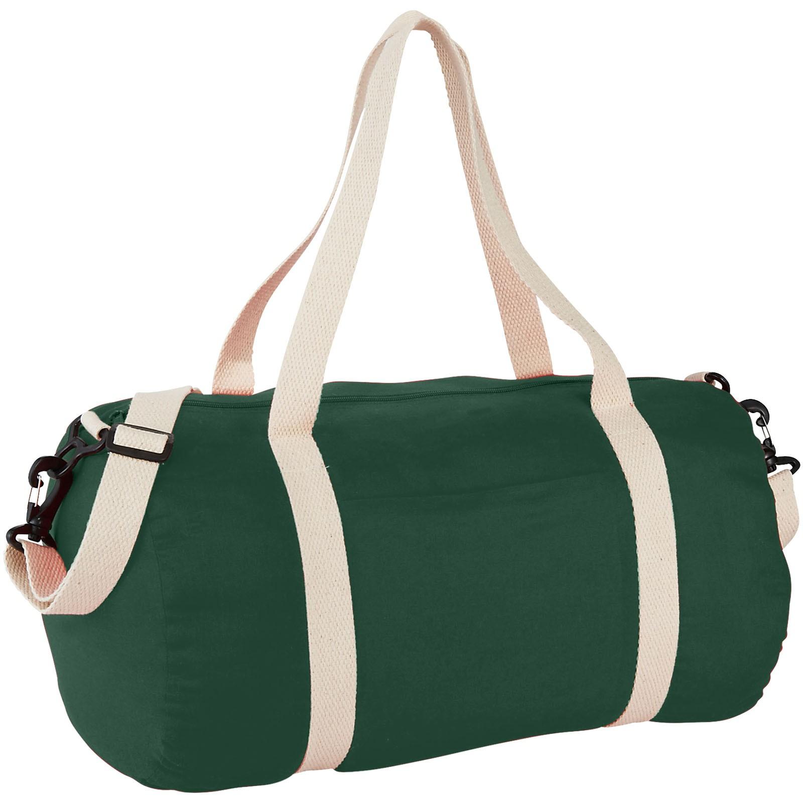 Cochichuate cotton barrel duffel bag - Forest green
