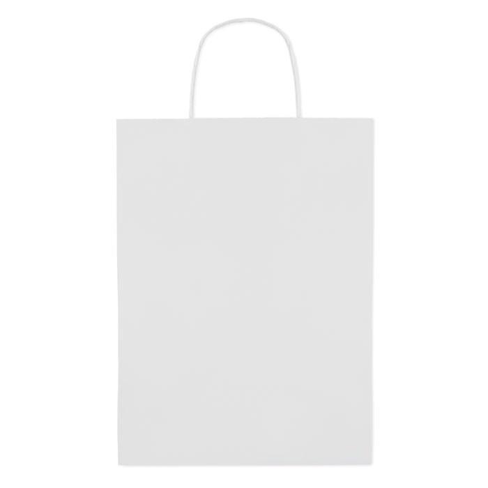 Paprierowa torebka ozdobna duż Paper Large - biały