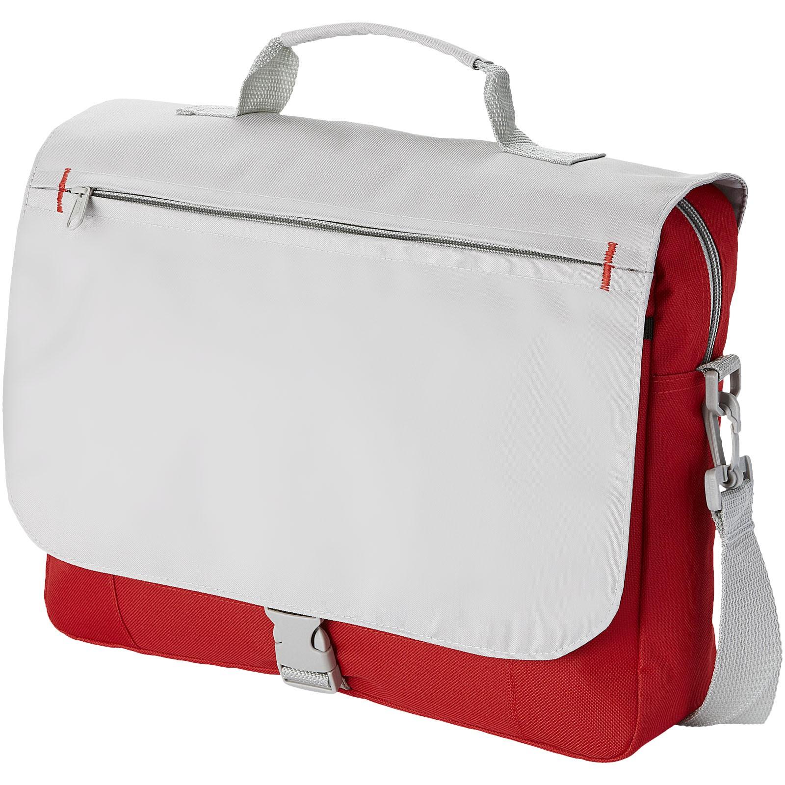 Konferenční taška Pittsburgh - Červená s efektem námrazy / Větle šedá