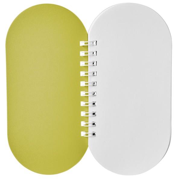 Poznámkový blok Capsule - Žlutá / Bílá
