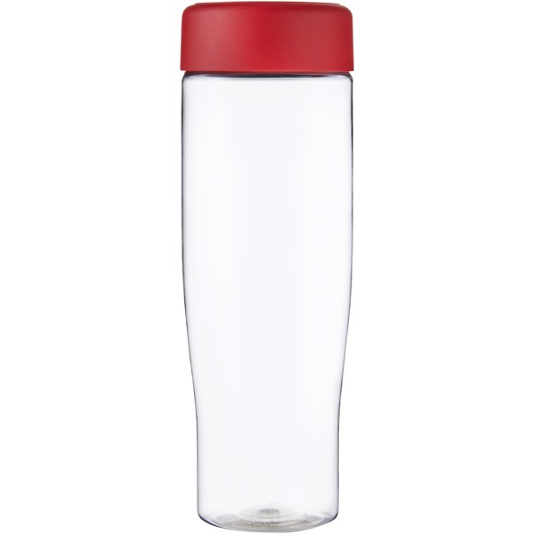 H2O Tempo 700 ml screw cap water bottle - Transparent / Red