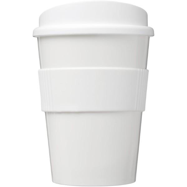 Brite-Americano® Medio 300 ml tumbler with grip - White