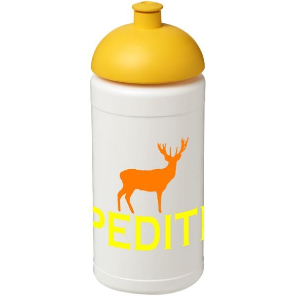 Sportovní láhev s kupolovitým víčkem Baseline® Plus 500 ml - Bílá / Žlutá