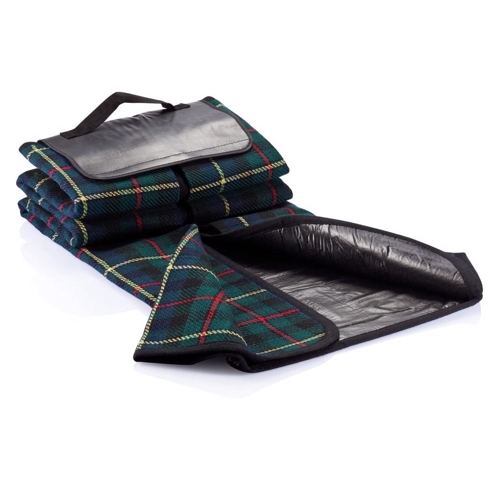 Tartan piknik takaró - Fekete