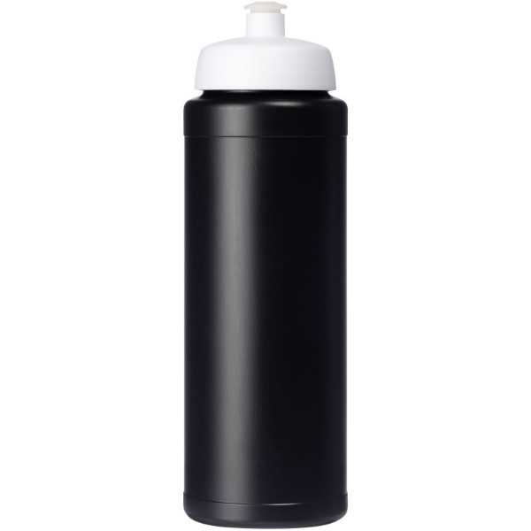Baseline® Plus grip 750 ml sportovní lahev s víčkem na sport - Černá / Bílá