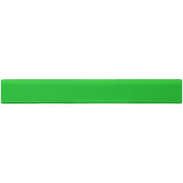 Renzo 30 cm plastic ruler - Green
