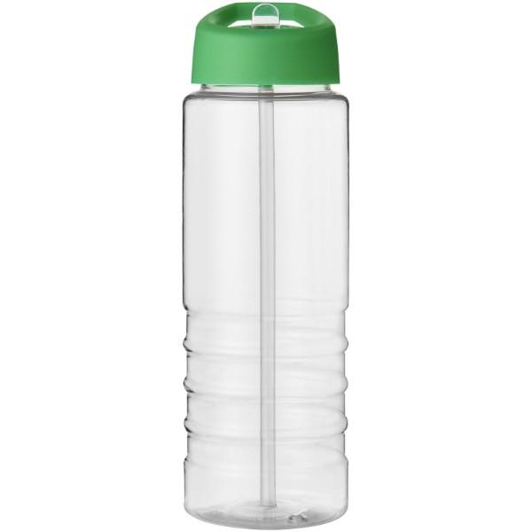 H2O Treble 750 ml sportovní lahev s víčkem s hubičkou - Průhledná / Zelená