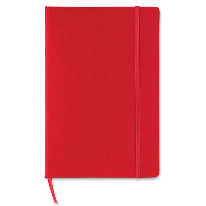 A5-ös négyzetrácsos notesz Squared - piros