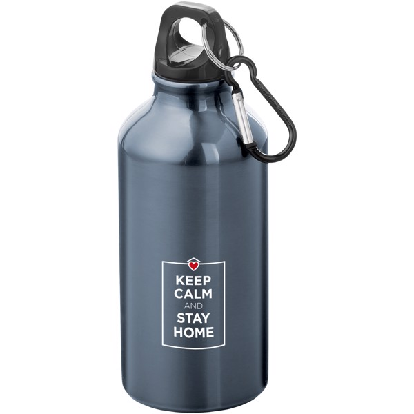 Oregon 400 ml Trinkflasche mit Karabiner - Gun Metal