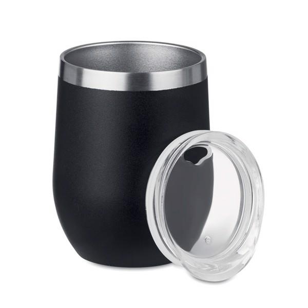 300ml double wall SS mug Chin Chin - Black