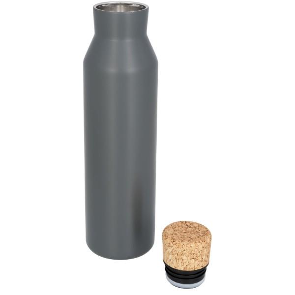 Norse měděná vakuem izolovaná láhev 590 ml - Šedá