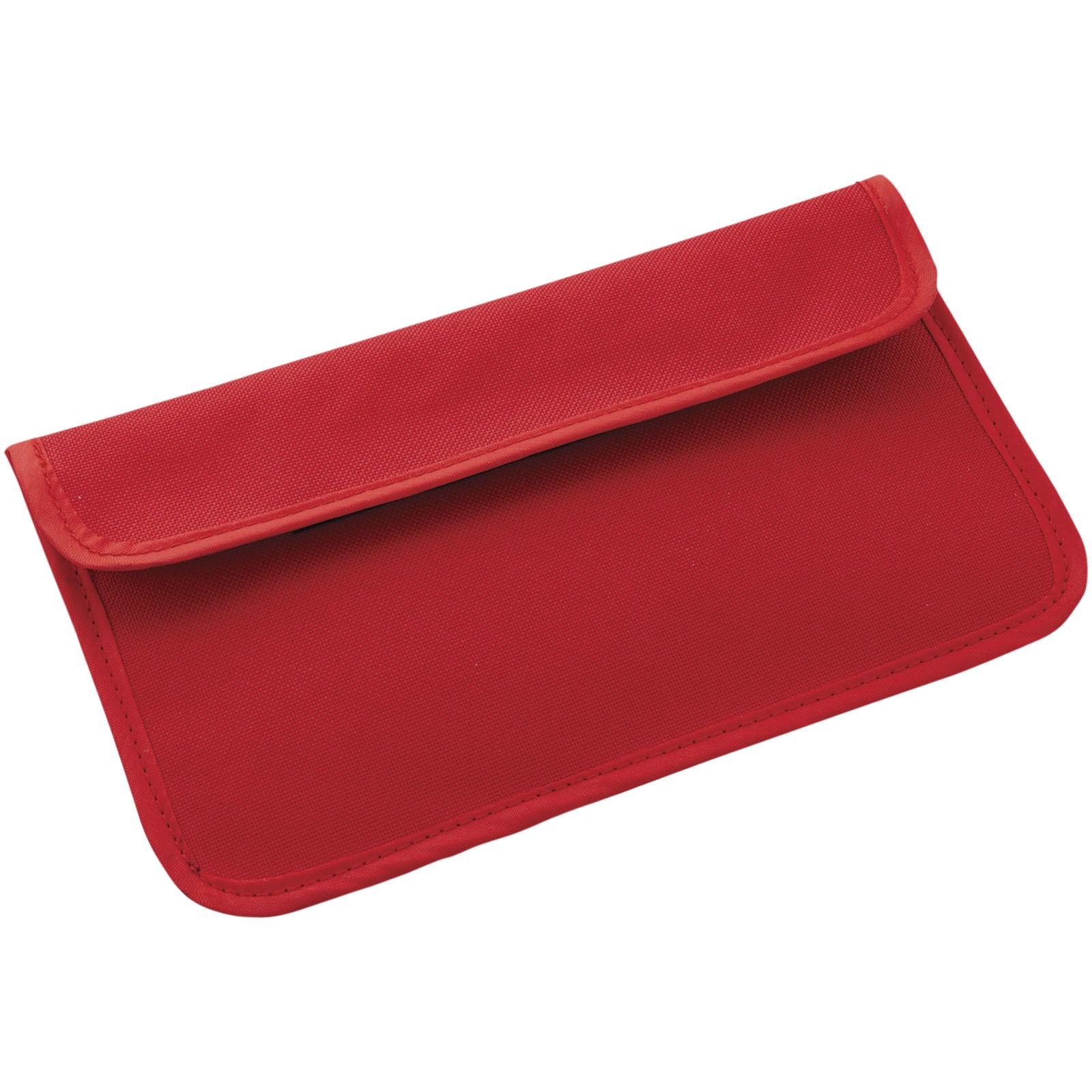 Pouzdro na telefon s blokádou RFID - Červená s efektem námrazy