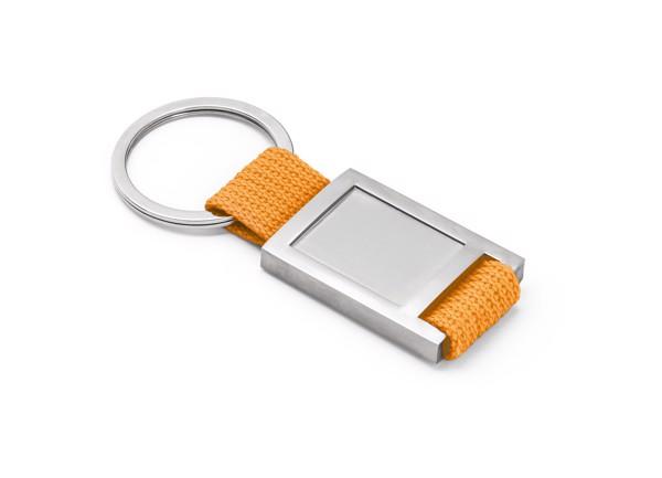 ANCHOR. Klíčenka z kovu a popruhoviny - Oranžová