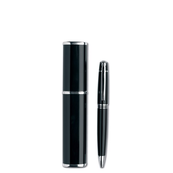 Metal twist ball pen Oregon - Black
