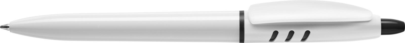 Stilolinea S30 plastic ballpen - White / Black