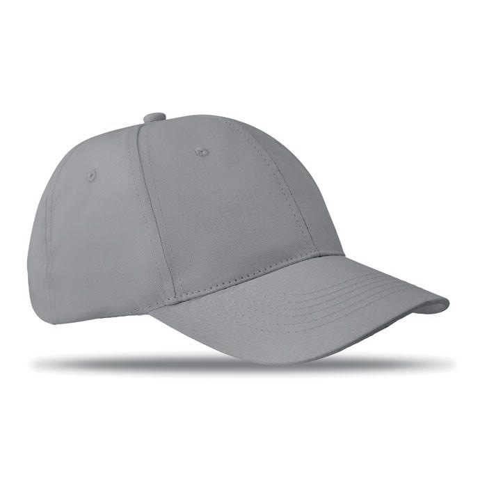 6 panels baseball cap Basie - Grey