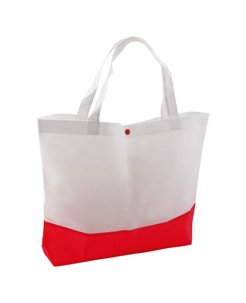 Beach Bag Bagster - White / Red