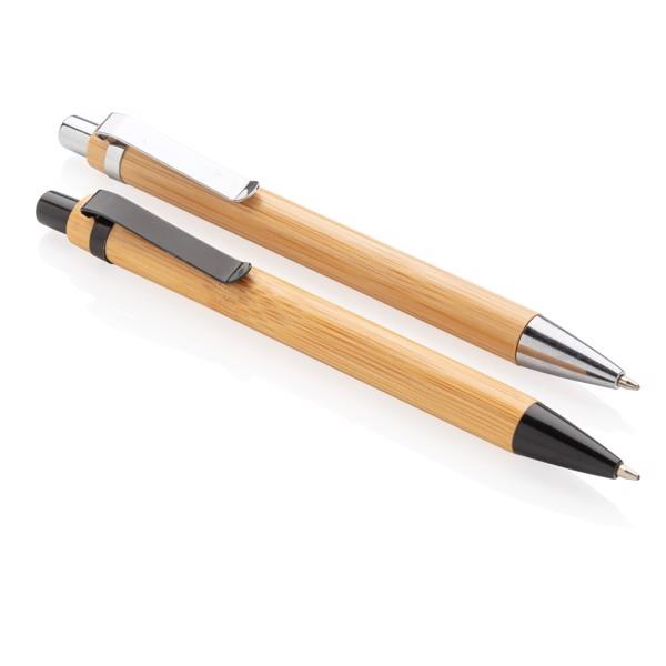Bambusz toll - Barna / Ezüst Színű