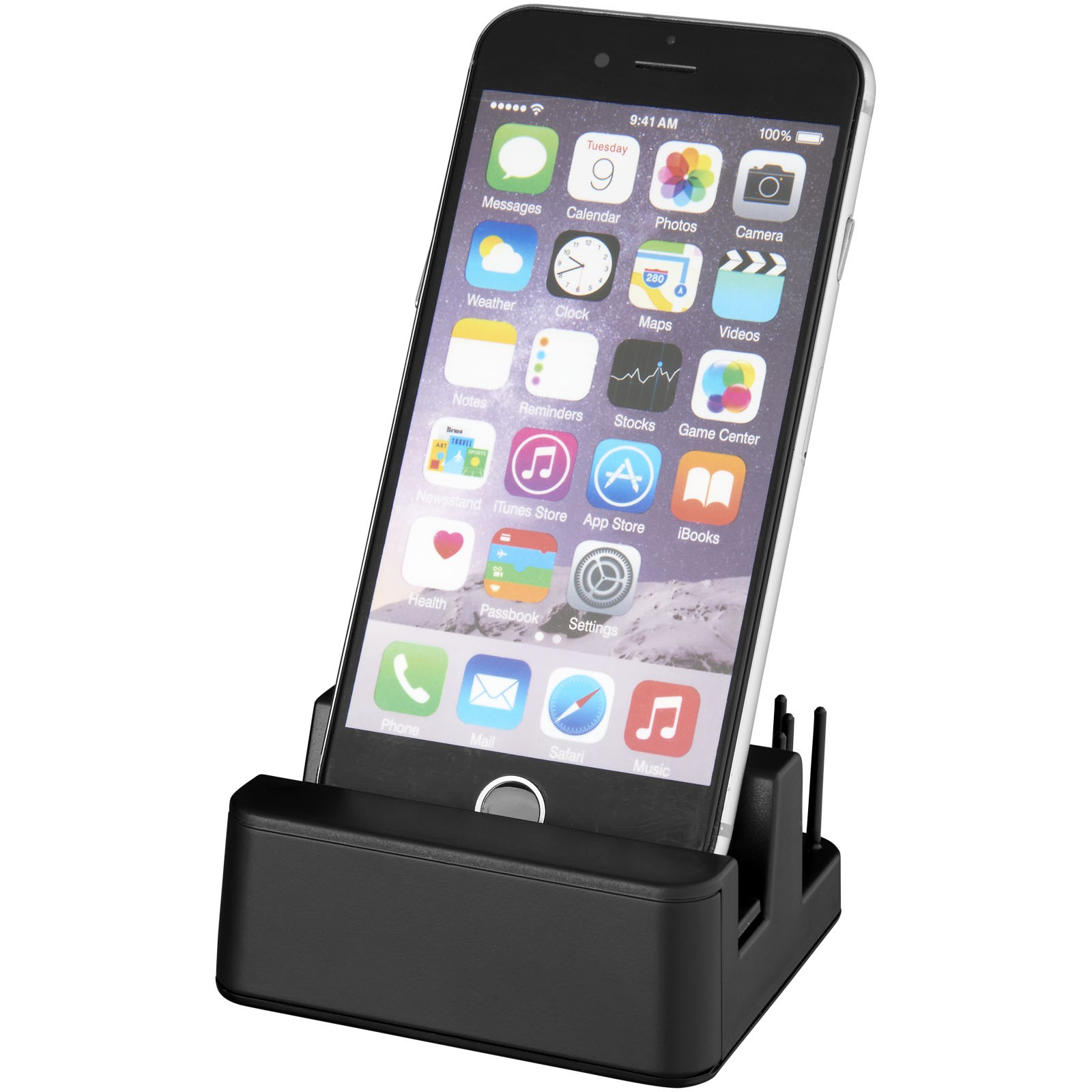 Glint light-up desk stand - Solid black