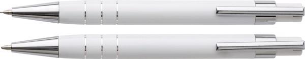 Schreibset 'Mercador' aus Metall - White