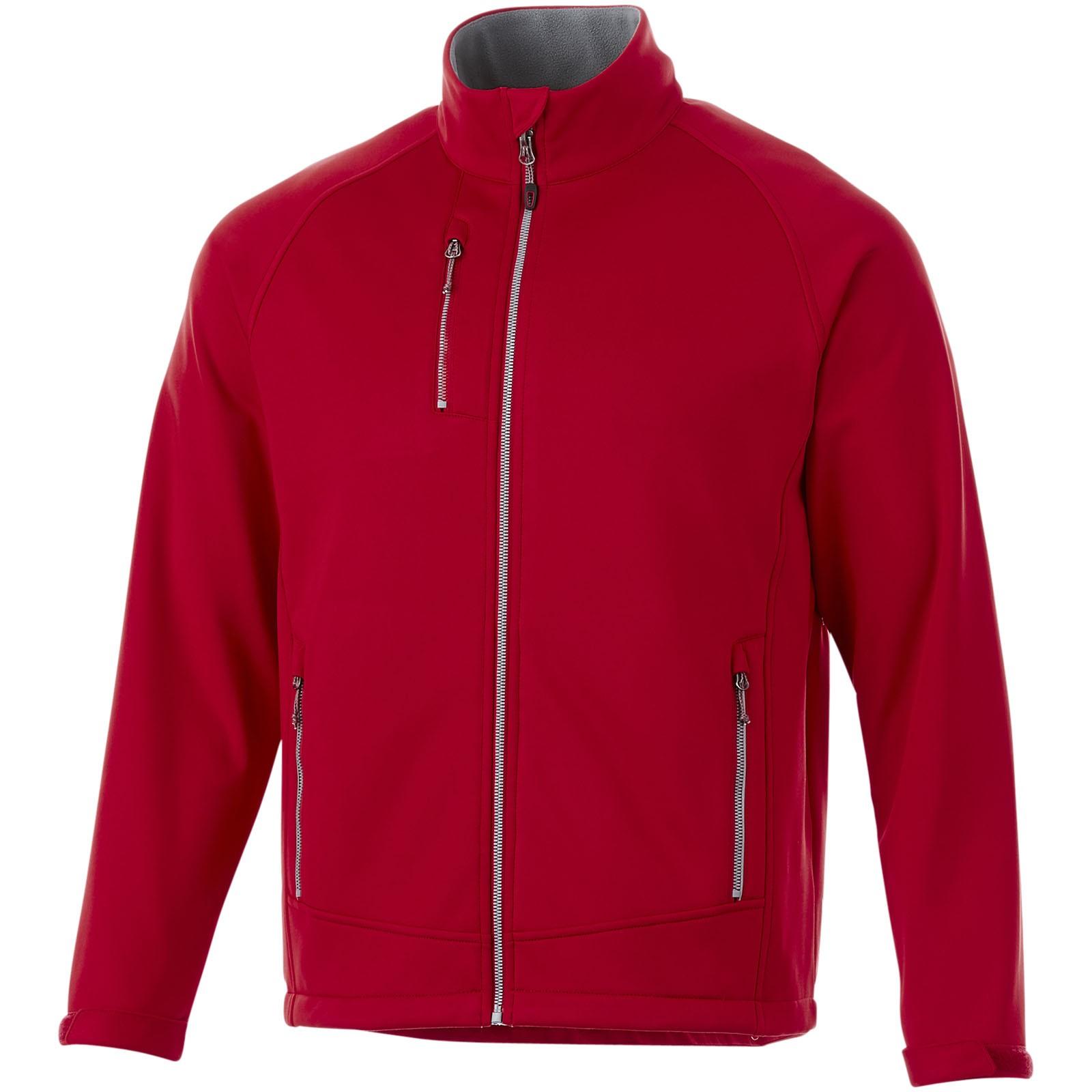 Chuck softshellová bunda - Červená s efektem námrazy / XS