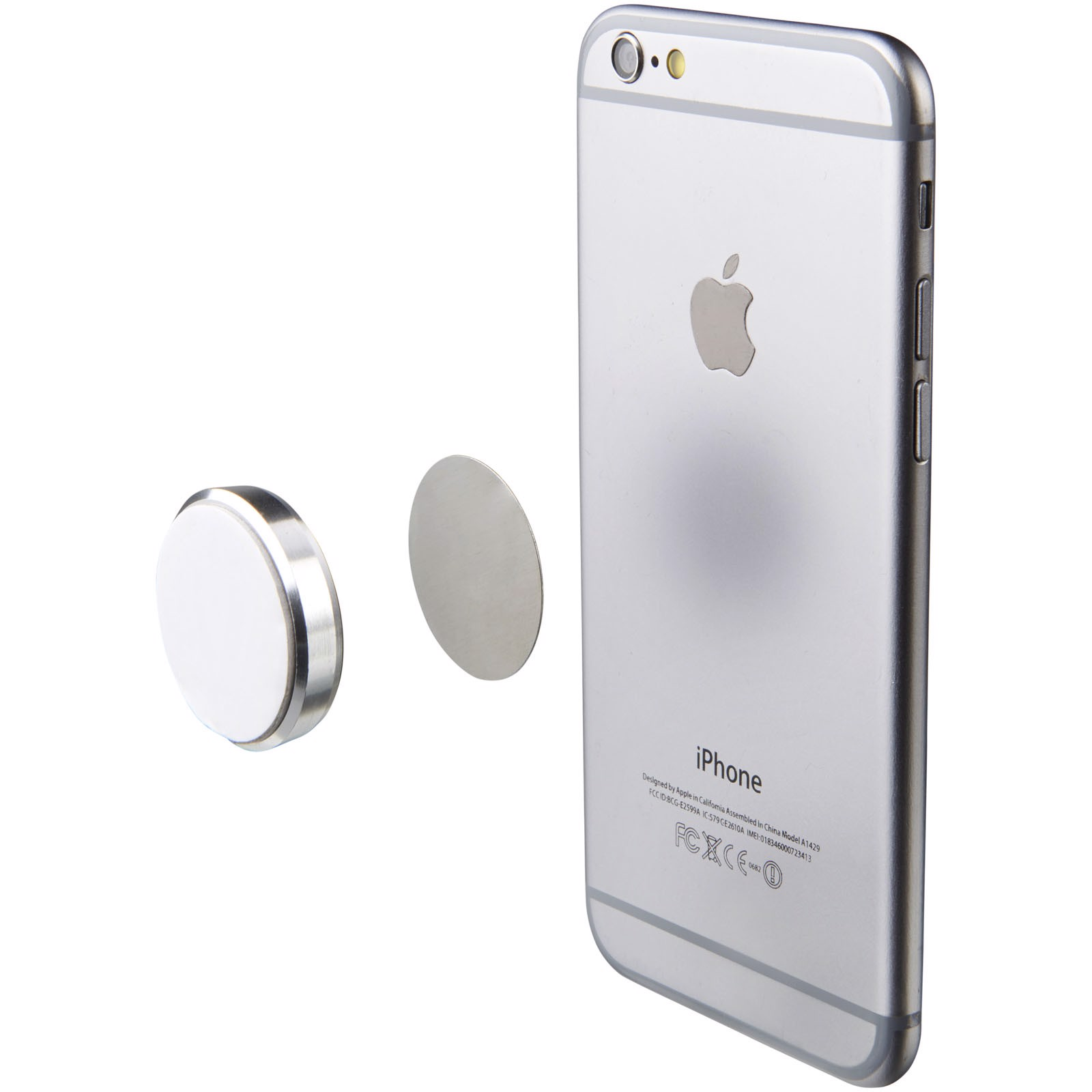 Glu magnetic phone sticky pad - Silver