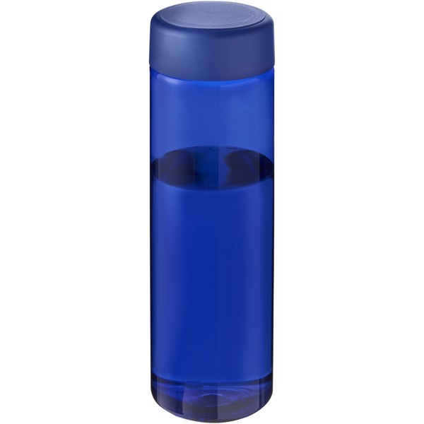 H2O Vibe 850 ml screw cap water bottle - Charcoal / Solid black